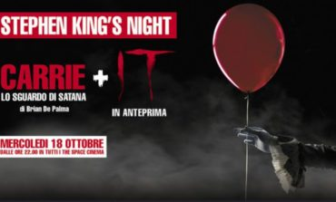 Stephen King's night al The Space: Carrie e il nuovo It in una sola serata.