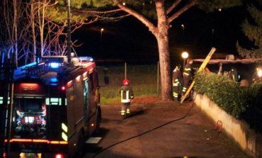 Barbecue in fiamme a San Mariano, i pompieri intervengono con una squadra