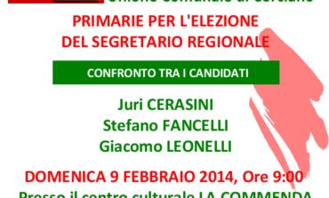 Segreteria PD, a San Mariano il confronto fra i tre candidati