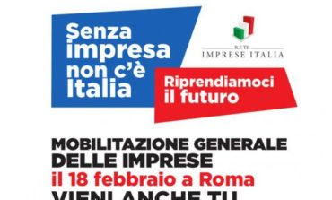 """Il 18 febbraio imprenditori umbri a Roma per la manifestazione """"Senza Impresa non c'è Italia. Riprendiamoci il futuro"""""""