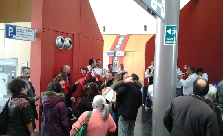 La SoloBand di Solomeo al Flash Mob per Felipe