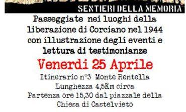 Il 25 aprile da Castelvieto una passeggiata della memoria