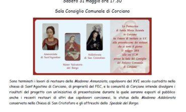 Sabato presentazione delle opere d'arte restaurate a Corciano