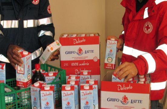 Croce Rossa e Grifo Latte insieme per la solidarietà, donati 100 litri ai bisognosi