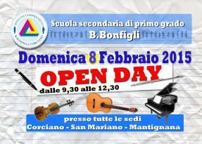 8 febbraio, Open Day straordinario alla Bonfigli