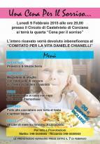 """A Castelvieto quarta edizione dlle """"Cena per il sorriso"""""""