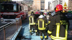 auto incendio pompieri corciano-centro cronaca ellera-chiugiana
