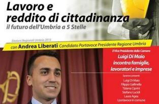 #liberatiumbria di maio elezioni m5s politica