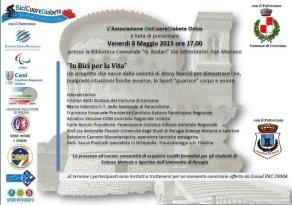 """8 maggio presentazione di """"In Bici per la Vita"""" alla Biblioteca Rodari"""
