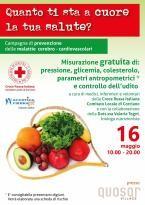 La CRI Corciano promuove screening gratuiti e una raccolta alimetare