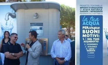 Progetto Fontanelle: inaugurazione del nuovo erogatore d'acqua a Mantignana