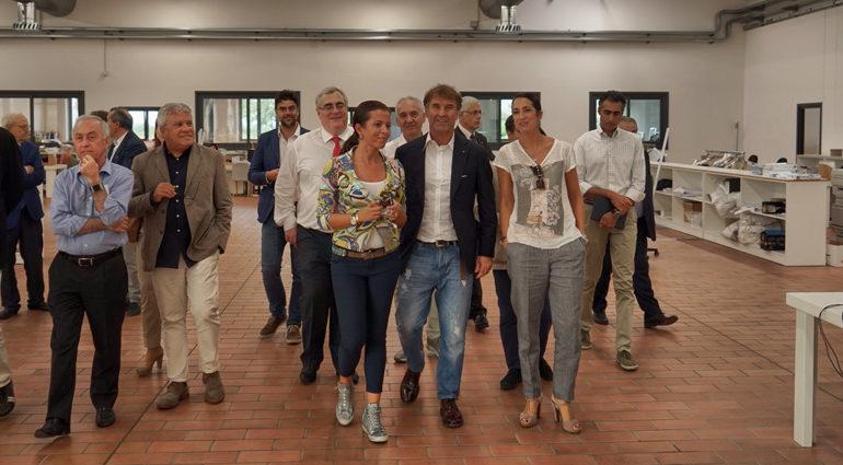 """""""L'impreditoria illuminata guidi la rinascita dell'Umbria"""", visita alla Brunello Cucinelli per i perugini di Confindustria Umbria"""