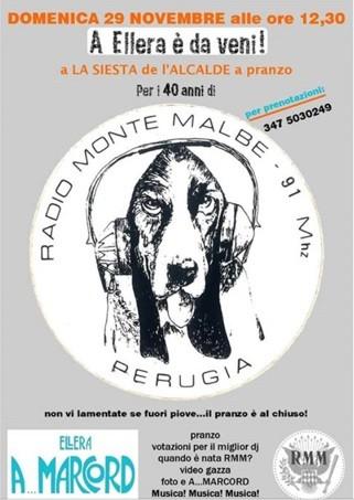 Si celebrano i 40 anni di Radio Monte Malbe, la radio libera di Chiugiana
