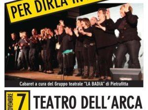 """""""Per dirla in allegria"""" lo spettacolo di cabaret per raccogliere fondi in favore dell'Ovus Corciano"""