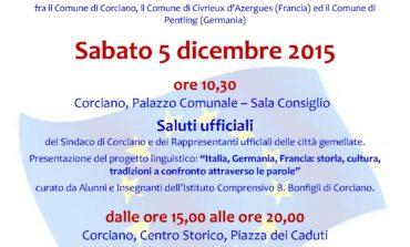 A Corciano arrivano le città gemellate: tante celebrazioni e un ricco mercatino di Natale