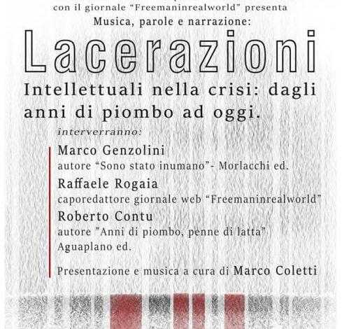 """Al Teatro della Filarmonica: """"Lacerazioni, gli intellettuali nella crisi: dagli anni di piombo ad oggi"""""""