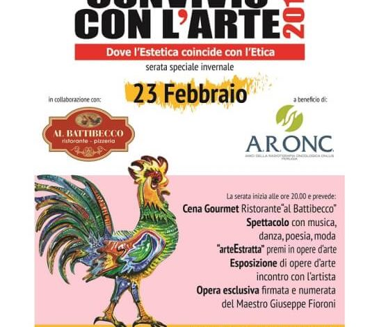 """23 febbraio: """"Convivio con L'Arte"""" raccoglie fondi per gli Amici Radioterapia Oncologica Onlus"""