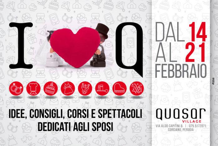 """A San Valentino anche al Quasar Villege si pensa agli sposi con """"I love Q"""""""
