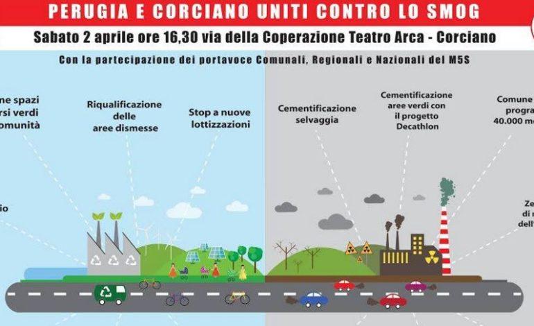 Contro lo smog: sabato l'iniziativa dei Cinquestelle di Perugia e Corciano