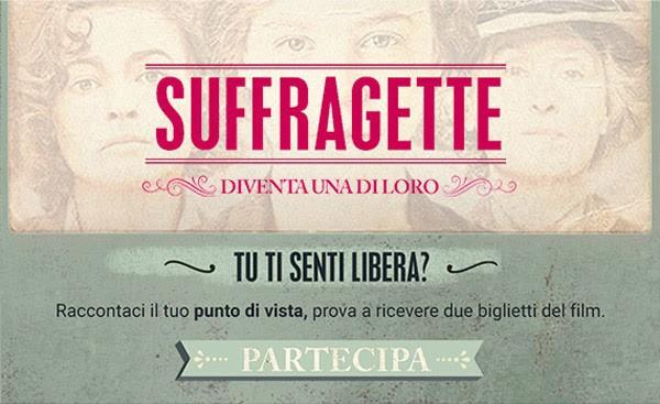 8 marzo biglietti cinema gratis suffragette the space vinci corciano-centro ellera-chiugiana