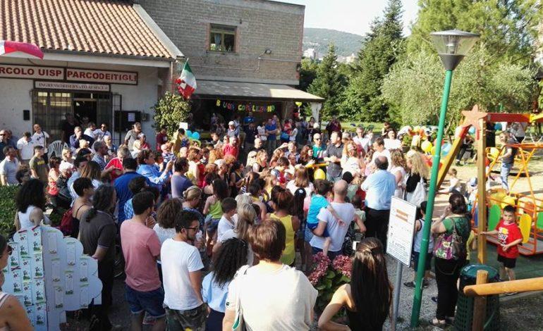 altalena bambini disabilità fiadda gioco istallazione parco parco dei tigli corciano-centro san-mariano