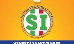 Referendum costituzionale: il 25 novembre incontro per il Sì con Morando e Cicchitto