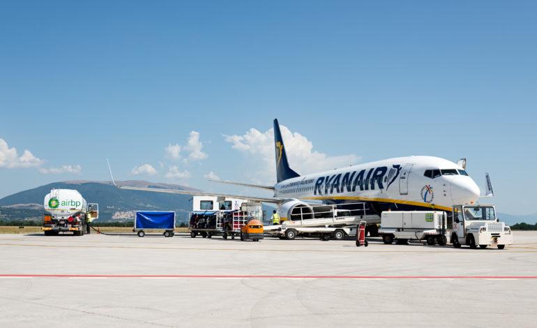 E' partita la nuova rotta Ryanair Perugia Catania