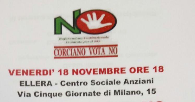 Corciano Vota No: venerdì un nuovo incontro, ospite l'on Nico Stumpo del PD
