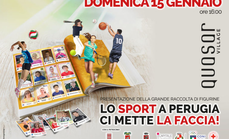 'Lo sport a Perugia ci mette la faccia': arriva la raccolta benefica di figurine degli atleti delle società sportive locali