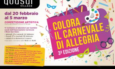 """""""Colora il Carnevale di allegria"""", gli appuntamenti al Quasar Village"""