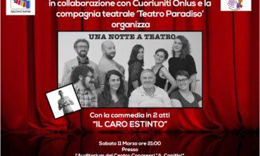 """Dopo Corciano """"Il caro estinto"""" si replica a Perugia in favore dell'Associazione Giacomo Sintini"""