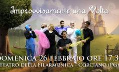 """""""Improvvisamente una Volta"""", spettacolo per bambini al Teatro della Filarmonica di Corciano"""