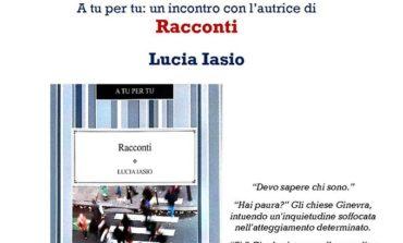 """Alla Biblioteca Rodari incontro con l'autrice di """"Racconti"""" Lucia Iasio"""