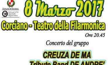 8 marzo a Corciano per l'Associazione Donne in Rete: libro, concerto e solidarietà con 'L'Asterisco' e 'Creuza de Ma'