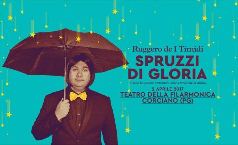 Alla Filarmonica fa tappa il tour teatrale 'Spruzzi di gloria' con Ruggero dei Timidi
