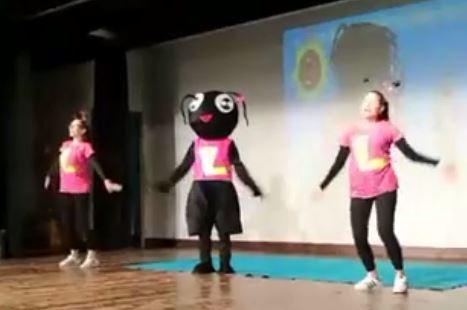 Ludovica la formica balla la Corciano Bimbi Dance alla sala Arca di Ellera