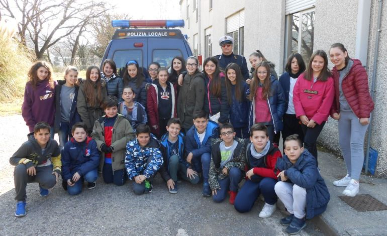 alunni codice della strada polizia locale scuola studenti cronaca san-mariano