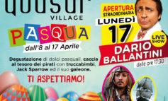 Primavera al Quasar Village arrivano fiori, pirati, iniziative pasquali e Dario Ballantini