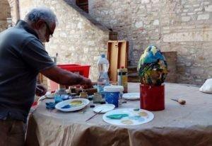 arte pasqua pittura uovo d'artista corciano-centro