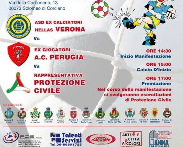calcio cascia palla al centro raccolta fondi solidarietà terremoto torneo corciano-centro solomeo sport