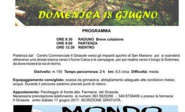 Domenica 18 giugno: passeggiata naturalistica da San Mariano a Solomeo, iscrizione gratuita