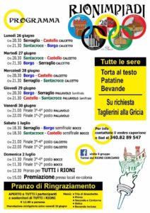 Rionimpiadi 2017: a Corciano torna la sfida tra Borgo, Castello, Santa Croce e Serraglio 5