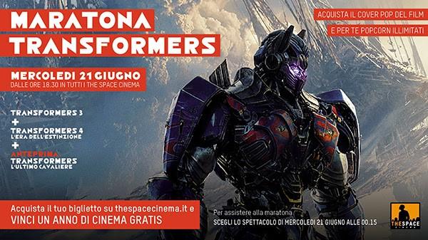 Maratona Transformers al cinema The Space