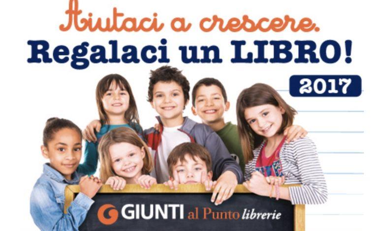 aiutaci a crescere regalaci un libro giunti iniziativa libreria libri scuola corciano-centro ellera-chiugiana