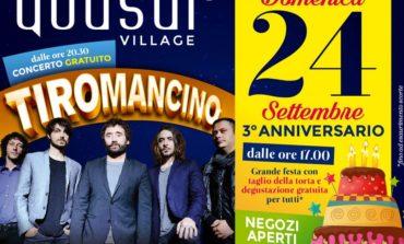 Il Quasar Village compie tre anni e festeggia con i Tiromancino