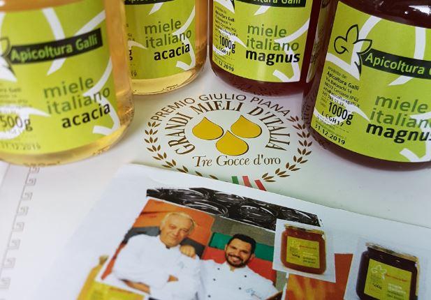 L'Apicoltura Galli trionfa con il suo miele al premio nazionale Tre gocce d'oro