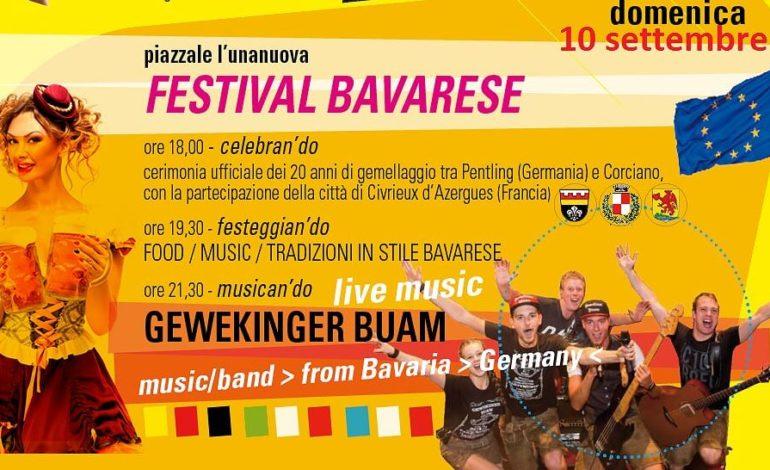 Venti anni di gemellaggio Corciano-Pentling: domenica cerimonia ufficiale e festival bavarese