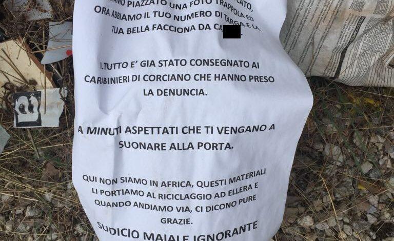 cartelli colle della trinità residenti rifiuti cronaca