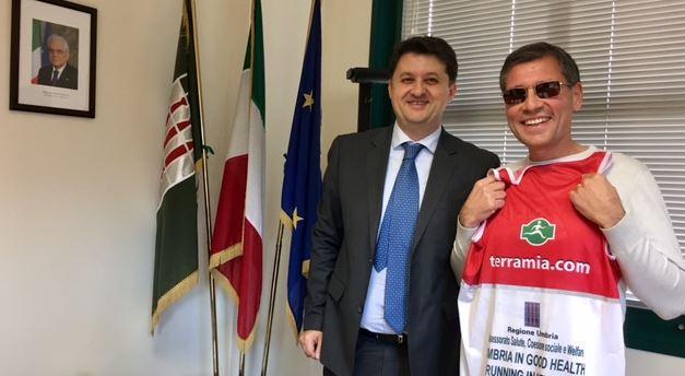 """Non vedente di Corciano partecipa alla Maratona New York: """"Porterò l'Umbria in salute"""""""