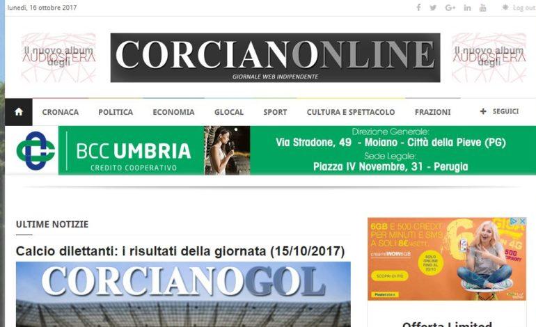 corcianonline sito cronaca
